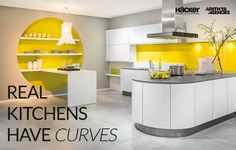 Real kitchens are not just places to prepare and cook food, they are something much more! Lighten up your home with Hacker kitchens.  #Hacker #Kitchens #Modular