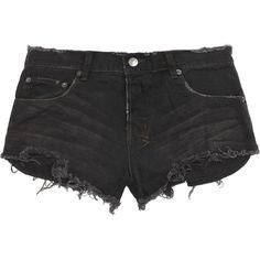 Ksubi Alberceque distressed denim shorts ($180) ❤ liked on Polyvore