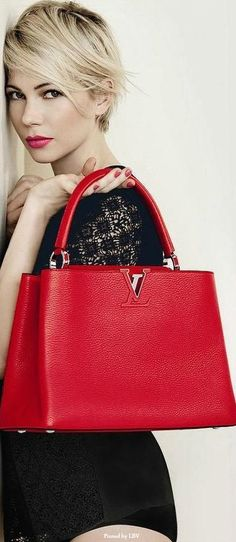 Michelle Williams - She is insanely beautiful and so are the LV handbags!