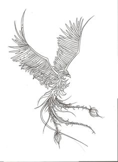 Phoenix Tattoo Design by Mustang-Inky