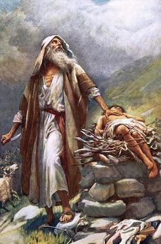 Abraham and Isaac by Harold Copping {c. early 1900's} ~ Old Testament art