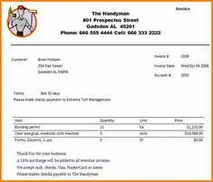6 handyman invoice template invoice term ben pinterest