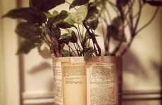 DIY Vintage Literature Planters #DIY #Christmas #Gifts