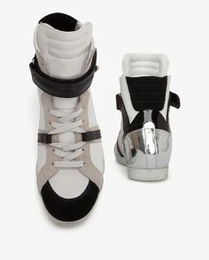 Barbara Bui Colorblock High Top Sneakers