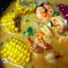 Peruvian-Style Shrimp and Rice Chowder