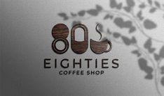 Wood Texture Coffee Shop logo mockup