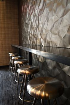 Really cool #boutique #hotel in #nomad; custom copper signage, cool faceted…