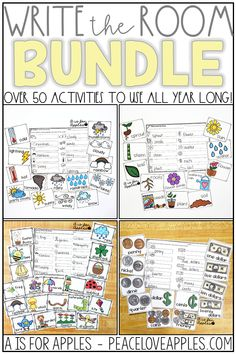 Over 50 write the room activities to use all year long! Save BIG with the bundle!