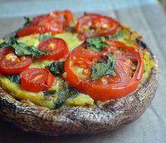 Vegan Portobello Pizzas (gluten free)