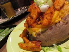 Buffalo Chicken Stuffed Twice-Baked Potatoes