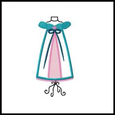 GISELLE Dress Form embroidery applique fill design for quilts, clothing & more