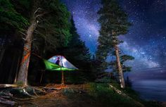 Sleep under the stars and reconnect with nature!  Photo by Linked Ring Photography