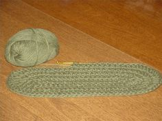 How to crochet in oval with double crochet.
