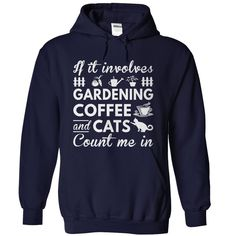 Love Gardening Coffee and Cats
