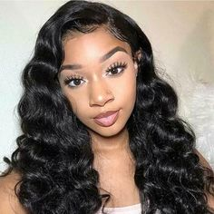 Natural Sexy Wave Brazilian Hair Lace Wig – Vensahair-Affordable lace wigs-Any Hairstyles you want- Brazilian/Peruvian/Indian/Malaysian Hair Black Hair Wigs, Long Black Hair, Short Curly Hair, Wavy Hair, Curly Hair Styles, Natural Hair Styles, Curly Wigs, Hair Cut, Frontal Hairstyles