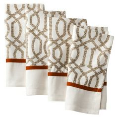 Don't forget to register for napkins, they'll come in hand for all of the dinner parties you'll be hosting in your new home!