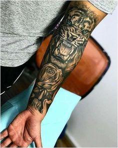 Amazing Lion Tattoo ideas for men tattoos for More Tattoo Id. - Amazing Lion Tattoo ideas for men – tattoos More Tattoo ideas you can find on our Websit - Dope Tattoos, Forarm Tattoos, Forearm Sleeve Tattoos, Best Sleeve Tattoos, Badass Tattoos, Tattoo Sleeve Designs, Body Art Tattoos, Hand Tattoos, Tatoos