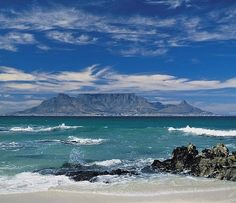 Table Mountain from Bloubergstrand--classic view! I loved just gazing at that view when I was there.