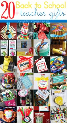 20+ Back to School Teacher Gift Ideas at artsyfartsymama.com