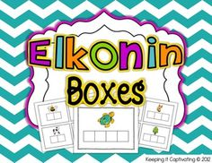 Elkonin Boxes: 100 picture cards & 2 different size cards to choose from $