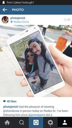 We can take selfies when we meet!!