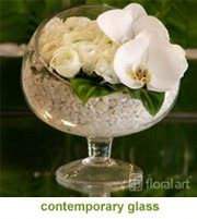 Table decoration - contemporary glass   JL DESIGNS