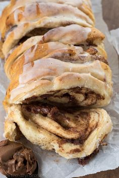 Chocolate Cinnamon Roll Pull Apart Bread | Crazy for Crust