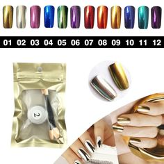 Health & Beauty Initiative 6 Bottle Cat Eye Magnetic Nail Powder Nail Salon Manicure Nail Care, Manicure & Pedicure