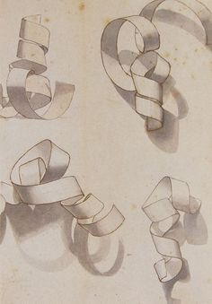 Warm-up exercise -- paper curl. Fun shading activity, different than the geometric shape drawings Drawing Skills, Drawing Lessons, Drawing Techniques, Drawing Practice, Middle School Art, Art School, Drawing Projects, Art Projects, Observational Drawing