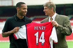 Thierry Henry & Arsene Wenger in 1999 #Soccer #futbol #fotball