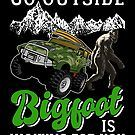 Go Outside Bigfoot Is Waiting For You Christmas Gifts, Xmas, Bigfoot, Big Trucks, Go Outside, Trick Or Treat, Birthday Gifts, Monster Trucks, Waiting