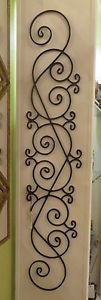 58  Wrought Iron Scroll Column Wall Grille Tall Slim Narrow Door Art | eBay