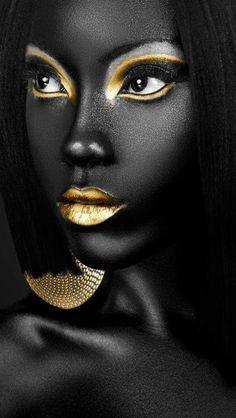 Black Art, Black Girl Art, Black Women Art, Black Girl Magic, African American Art, African Art, Art Afro, Art Visage, Gold Aesthetic