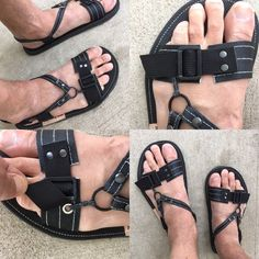 Men Sandals, Male Fashion Trends, Male Feet, Huaraches, Dj, Ring, Leather, Shoes, Manish