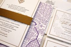 Washington DC wedding invitation. #skyline #dcwedding #dcinvitation www.justinkonpaper.com