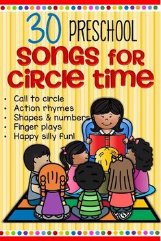 FREE Indispensable list of songs to have on hand every day for preschool. Get the kids up and moving and learning! #preschoolsongs #circletime