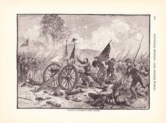1901 American History Print  Civil War Picketts Charge by Holcroft, $10.00