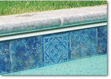 Waterline Pool Tile Ideas noble tile Water Line Pool Tile Pool Tile Pool Coping Ceramic Tile Glass Tile