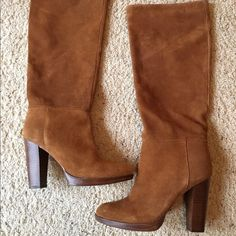 LF Suede Boots Just purchased these from LF but they are too small. Size 9, brand new. 100% suede, retails for $198 LF Shoes Heeled Boots