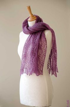 Knitted lace scarf silk and mohair lace scarf lace stole by foldi, $100.00
