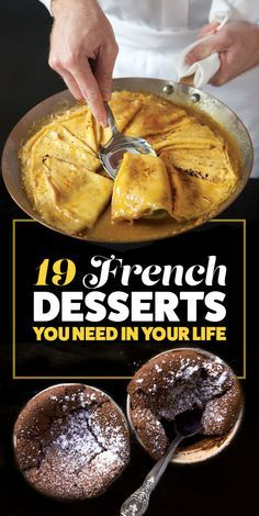 19 French Desserts You Need in Your Life Desserts Français, Delicious Desserts, Yummy Food, French Food Recipes, Sweet Recipes, Cooking Recipes, French Deserts, French Dishes, Eat Dessert First
