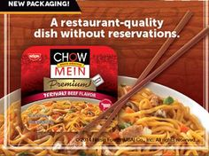 Chow Mein, a restaurant-quality dish without reservations.