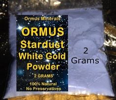 MONATOMIC GOLD *ORMUS* *ORME* WHITE POWDER GOLD Trial Size Sale!! $7.50