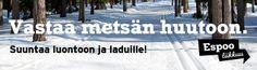 Espoo liikkuu -ilmeellä tehty banneri Espoo.fi-sivustolle / Mainostoimisto RED / Talvi 2014