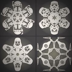How To Make Star Wars Snow Flakes! Perfect for your Elf on the Shelf!