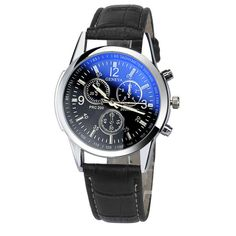 GENEVA Mens Watches Top Brand Luxury Faux Leather Analog Watch Wristwatch Mujer Relojes Waterproof Relogio Montre Homme