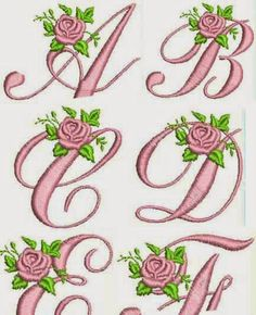 Dreams Free Embroidery: Rose Alphabet Free Embroidery