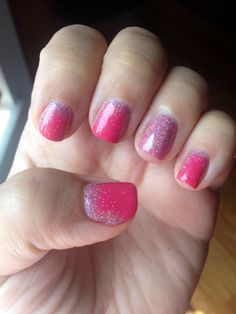 Shellac nails glitter fade my shellac nail art for A david anthony salon