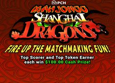 Play Mahjongg Shanghai Dragons online for free at PCHgames Dragons Online, Sam Elliott, Publisher Clearing House, Dragon Games, Online Sweepstakes, Winning Numbers, Cash Prize, Matching Games, Next At Home