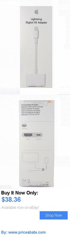 Computers Tablets Networking: Genuine Apple Lightning To Hdmi Cable Digital Av Adapter For Screen Mirroring BUY IT NOW ONLY: $38.36 #priceabateComputersTabletsNetworking OR #priceabate
